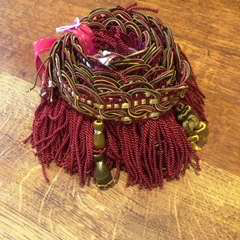 Burgundy Red Tassle