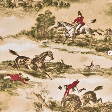 lewis and wood hunting scene