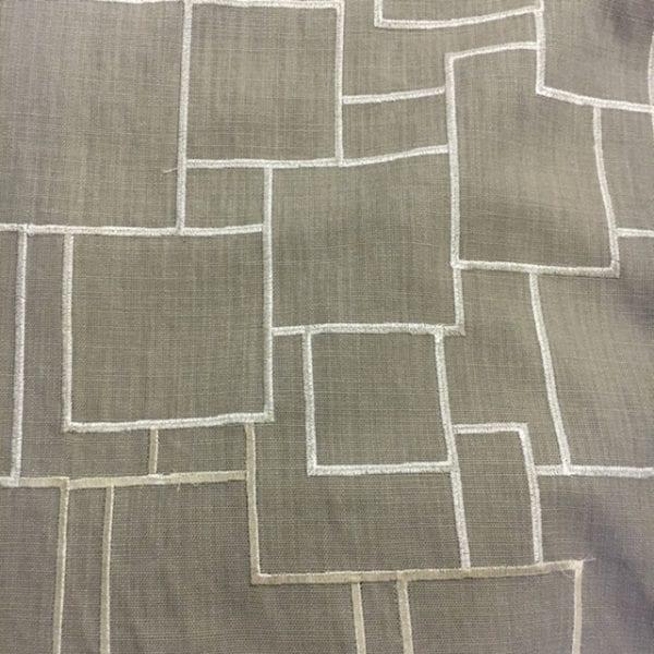 geometric grey fabric