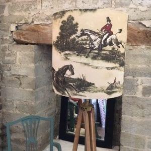 Equestrian lamp shade